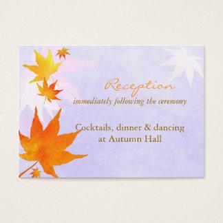 Fall-Ahorn-Hochzeits-Empfang oder Register Visitenkarte
