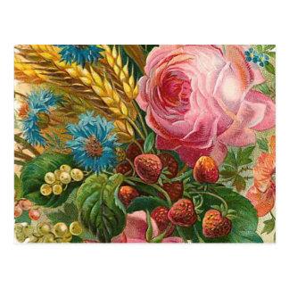 """Fall-Blumen-Ernte"" Vintag Postkarte"