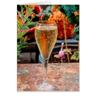 Fall-Champagne-Feier Karte