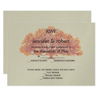 Fall-Eichen-Hochzeits-Wartekarte 8,9 X 12,7 Cm Einladungskarte