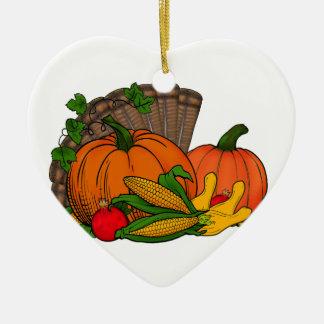 Fall-Ernte Keramik Ornament