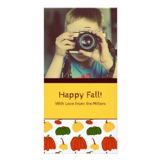 Fall-Kürbise: Kundengebundene Fotokarte #2