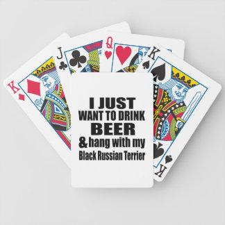 Fall mit meinem schwarzen Russen Terrier Spielkarten