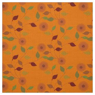Fall-Sammlungs-helles orange Blumen-Blatt-Muster Stoff