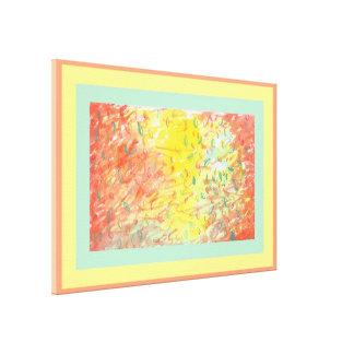 Fallendes Blätter in der Sonnenlicht-Wasserfarbe Gespannter Galeriedruck