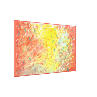 Fallendes Blätter in Sonnenlicht-Wasserfarbe 2 Leinwanddruck
