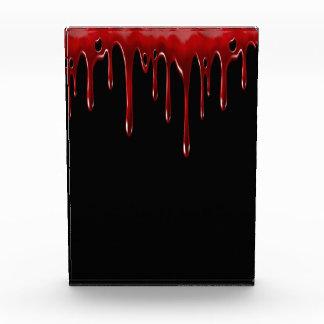Falln Blut-Tropfen-Schwarzes Fotoblock