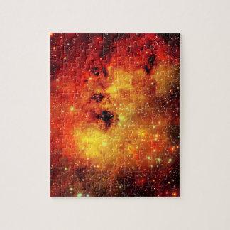 Falln Galaxie auf Feuer Puzzle