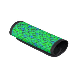 Falln grün-blaue Skalen Gepräckgriffwickel