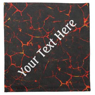 Falln heiße Lava Stoffserviette