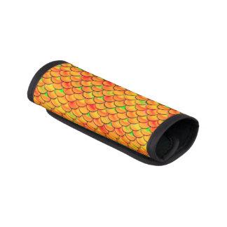 Falln orange und grüne Skalen Koffergriffwickel