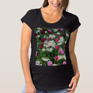 Falln romantischer Frühlings-Morgen Schwangerschafts T-Shirt