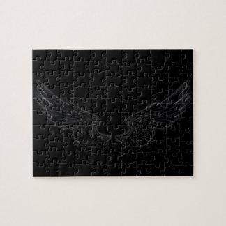 Falln schwarze Engels-Flügel Puzzle