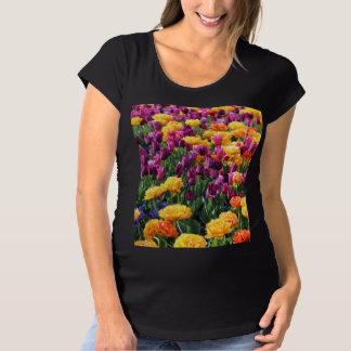 Falln Sonnenuntergang-Blumenfluß Schwangerschafts T-Shirt