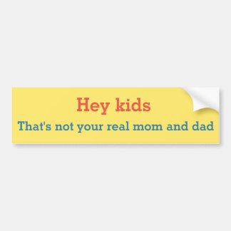Falsche Eltern Autoaufkleber