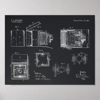 Falten-Kamera-Patent-Kunst 1894, die Druck Poster