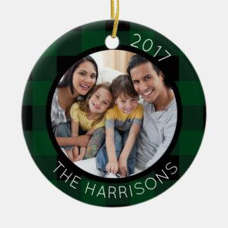 FAMILIE IST DIE LIEBE (auf Rückseite) 2-Foto Keramik Ornament