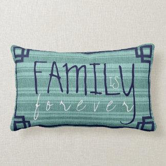 Familie ist Für immer-Minze-Grüne Leinenstreifen Zierkissen