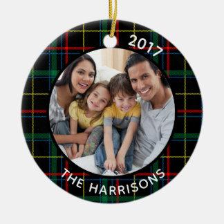 FAMILIE IST kariertes LIEBE (auf Rückseite) Keramik Ornament