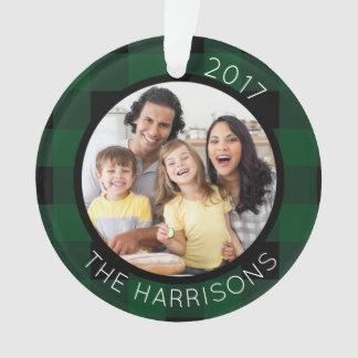 FAMILIE IST LIEBE (auf Rückseite) Grün/Schwarzes Ornament