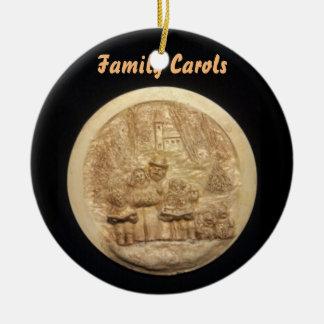 FAMILIE SINGT   SAMMLER-WEIHNACHTSverzierung Keramik Ornament