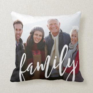 Familien-Foto-Schablone Kissen