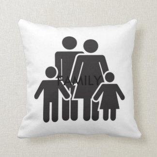 Familien-Grad ein BaumwollWurfs-Kissen 16x16 Zierkissen