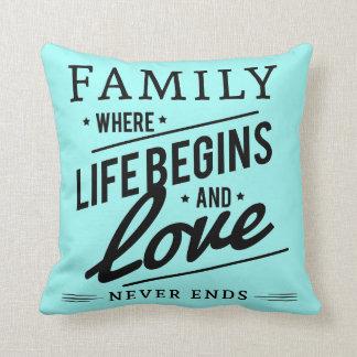 Familien-Liebeaqua Throwkissen Kissen