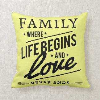 Familien-Liebegelb Throwkissen Kissen