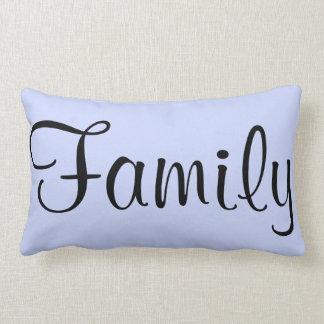 Familien-Ruhe-blauer kundenspezifischer Kissen