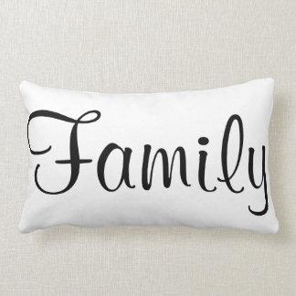 Familien-schwarzer u. weißer kundenspezifischer kissen
