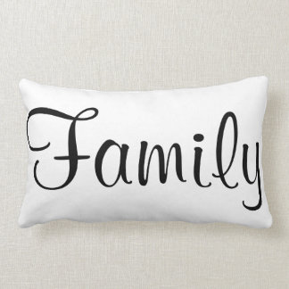 Familien-schwarzer u. weißer kundenspezifischer lendenkissen