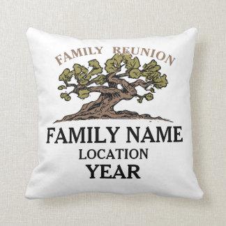 Familien-Wiedersehen-Baum-Kissen Zierkissen