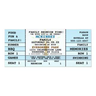 Familien-Wiedersehen-Konzert-Karten-Einladung 10,2 X 23,5 Cm Einladungskarte