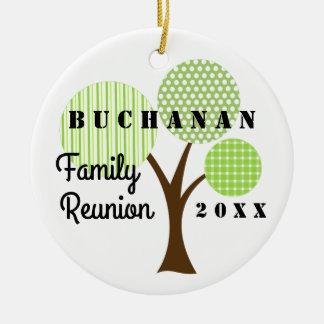 Familien-Wiedersehen-wunderliches Rundes Keramik Ornament