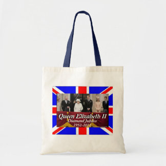 Familienporträtjubiläum-Flaggentasche der Königin Budget Stoffbeutel