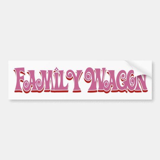 Family Wagon Autoaufkleber