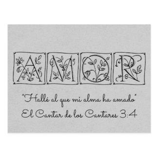 Fand ein mein Soul Loves~Scripture~Spanish~RSVP Postkarte