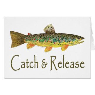 Fang-und Freigabe-Fischen Grußkarte