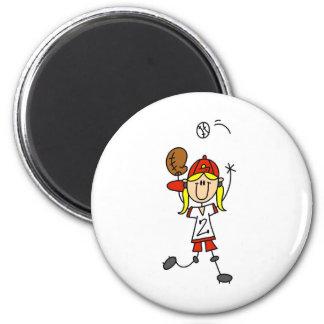 Fangen eines Softball-Magneten Runder Magnet 5,1 Cm