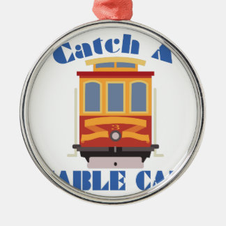 Fangen Sie eine Drahtseilbahn Silbernes Ornament