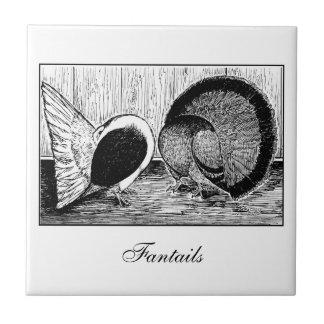 Fantail-Paare Keramikfliese