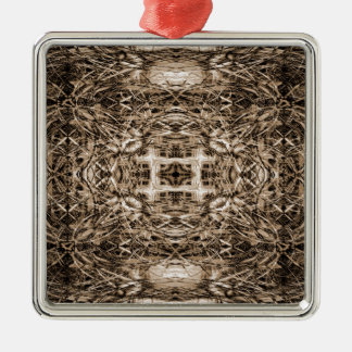 Fantasie-Bau-Hintergrund Silbernes Ornament