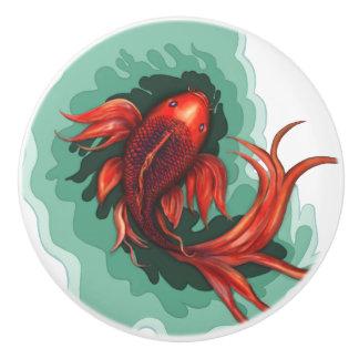Fantasie Koi Fisch-Kunst Keramikknauf