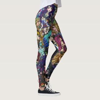 Fantasie-Kunst-Meerjungfrau-Fee-Collage Hannah Leggings