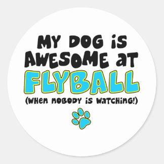Fantastisch bei Flyball Runder Aufkleber