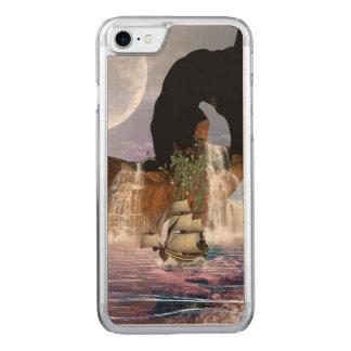 Fantastische Ansicht über den Ozean mit Schiff, Carved iPhone 8/7 Hülle