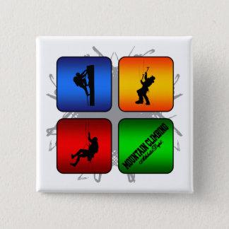 Fantastische Gebirgskletternstädtische Art Quadratischer Button 5,1 Cm