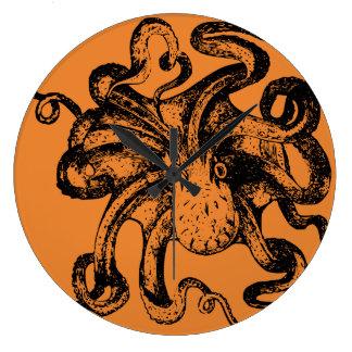 Fantastische Kraken Entwürfe Große Wanduhr