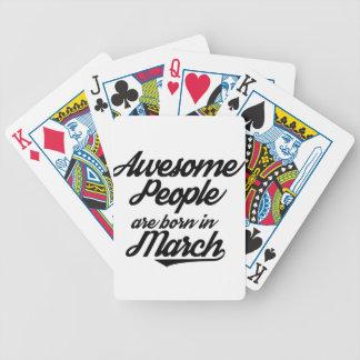 Fantastische Leute sind im März geboren Bicycle Spielkarten